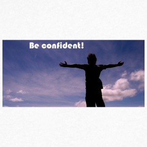 Be Confident - Men's V-Neck T-Shirt by Canvas