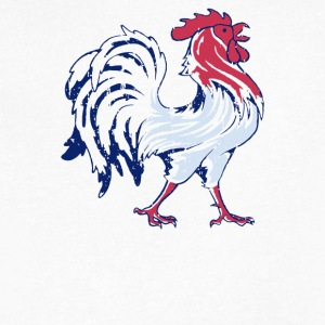 French Flag And Gallic Rooster - Men's V-Neck T-Shirt by Canvas