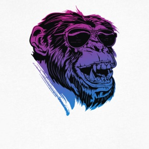 Shaded Ape - Men's V-Neck T-Shirt by Canvas