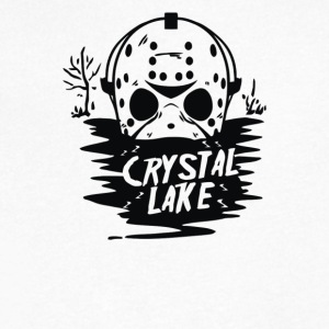 Crystal Lake - Men's V-Neck T-Shirt by Canvas