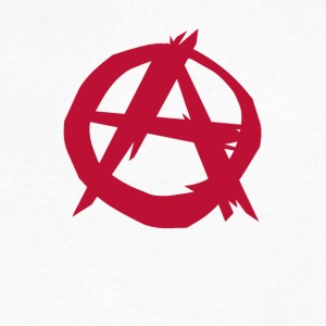 Anarchy anarchist punk - Men's V-Neck T-Shirt by Canvas