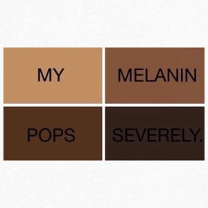 My Melanin Pops Severely Clothing - Men's V-Neck T-Shirt by Canvas