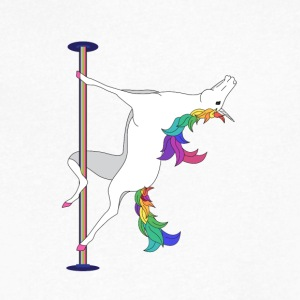 POLE DANCING UNICORN - Men's V-Neck T-Shirt by Canvas