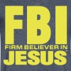 FBI: FIRM BELIEVER IN JESUS - Men's V-Neck T-Shirt by Canvas