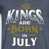 Born Birthday Bday Kings July - Men's V-Neck T-Shirt by Canvas