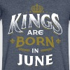 Born Birthday Bday Kings June - Men's V-Neck T-Shirt by Canvas