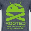 android rooted - Men's V-Neck T-Shirt by Canvas