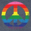 Peace Rainbow V-Neck Tee - Men's V-Neck T-Shirt by Canvas