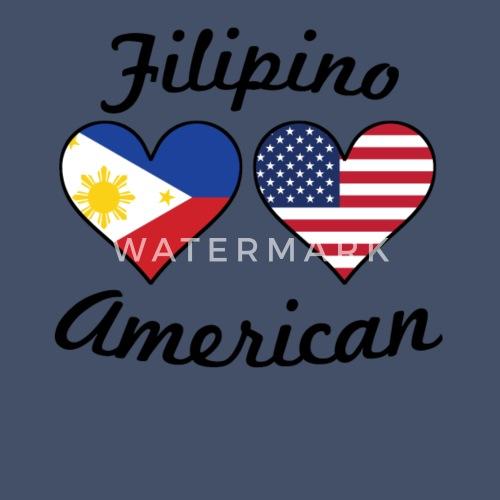 e5bf6ae676d Men s V-Neck T-ShirtFilipino American Flag Hearts. Awesome Shirts