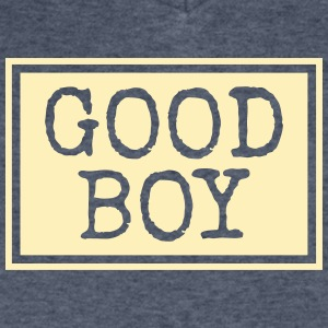 good boy - Men's V-Neck T-Shirt by Canvas