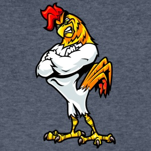 muscular_rooster_white - Men's V-Neck T-Shirt by Canvas
