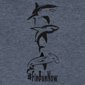 All Sharks Fin Ban Now - Men's V-Neck T-Shirt by Canvas