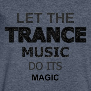 Let the Trance Music Do Its Magic - Men's V-Neck T-Shirt by Canvas
