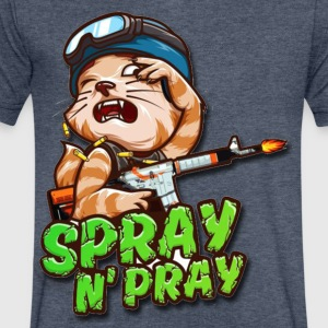 Spray and Pray - Men's V-Neck T-Shirt by Canvas