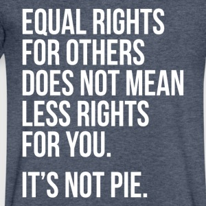Equal rights for others does not mean less rights - Men's V-Neck T-Shirt by Canvas