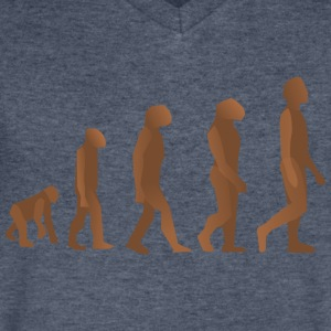 EVOLUTION OF MAN AND WOMAN! - Men's V-Neck T-Shirt by Canvas
