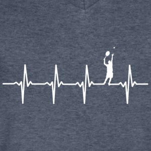 Tennis - Heartbeat - Men's V-Neck T-Shirt by Canvas