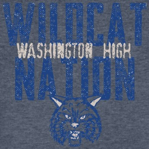 Wildcat Nation Washington High - Men's V-Neck T-Shirt by Canvas