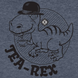Tea rex - Men's V-Neck T-Shirt by Canvas