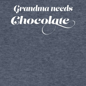 grandma needs chocolate - Men's V-Neck T-Shirt by Canvas
