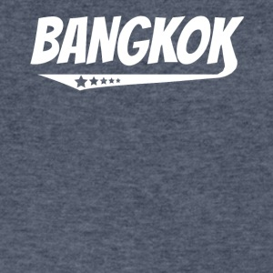 Bangkok Retro Comic Book Style Logo - Men's V-Neck T-Shirt by Canvas