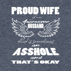 Proud Wife Of An Awesome Husband T Shirt - Men's V-Neck T-Shirt by Canvas