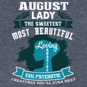 August lady The sweetest Most beautiful - Men's V-Neck T-Shirt by Canvas