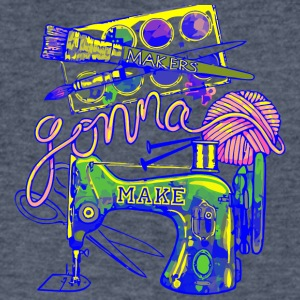Makers Gonna Make - Men's V-Neck T-Shirt by Canvas