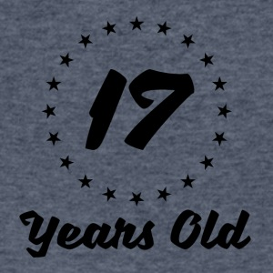 17 Years Old - Men's V-Neck T-Shirt by Canvas