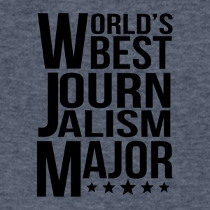 World's Best Journalism Major - Men's V-Neck T-Shirt by Canvas