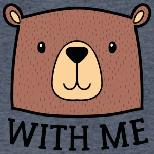 Bear With Me - Men's V-Neck T-Shirt by Canvas