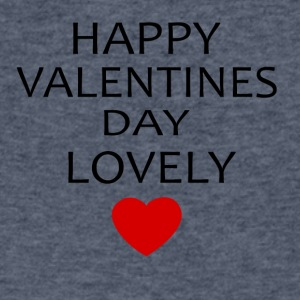 Hapy Valentines Day Lovely - Men's V-Neck T-Shirt by Canvas