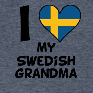 I Heart My Swedish Grandma - Men's V-Neck T-Shirt by Canvas