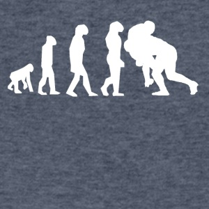 Rugby Tackle Evolution - Men's V-Neck T-Shirt by Canvas