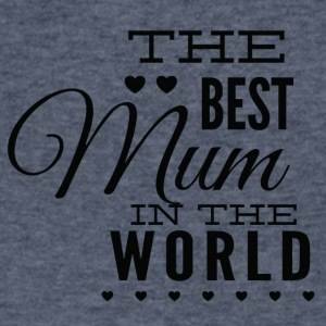 the_best_mom_in_the_world_black - Men's V-Neck T-Shirt by Canvas
