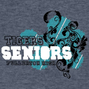 TIGERS SENIORS FULLERTON HIGH - Men's V-Neck T-Shirt by Canvas
