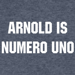 ARNOLD IS NUMERO UNO Schwarzenegger - Men's V-Neck T-Shirt by Canvas