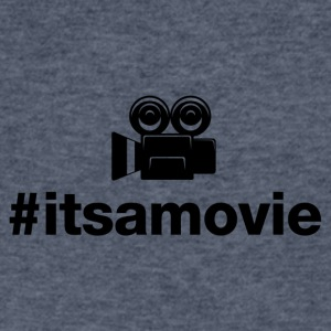 Its A Movie - Hashtag Design (Black Letters) - Men's V-Neck T-Shirt by Canvas