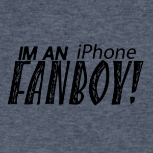 I'M AN iPhone FANBOY shirt! Proud to be apple fan - Men's V-Neck T-Shirt by Canvas