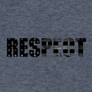 Respect Black and White flag - Men's V-Neck T-Shirt by Canvas