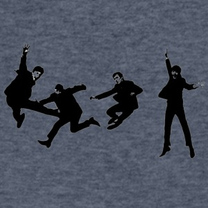 beatles jump - Men's V-Neck T-Shirt by Canvas