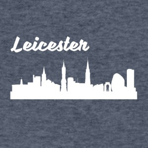 Leicester Skyline - Men's V-Neck T-Shirt by Canvas