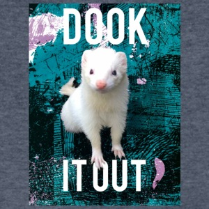 Dook It Out Ferret - Men's V-Neck T-Shirt by Canvas