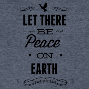 let_there_be_peace_on_earth-01 - Men's V-Neck T-Shirt by Canvas