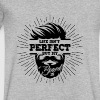 Life isn't perfect but my beard is - bearded man - Men's V-Neck T-Shirt by Canvas