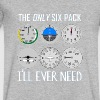 Only Six Pack I'll Need T-Shirt Funny Pilot Quote - Men's V-Neck T-Shirt by Canvas