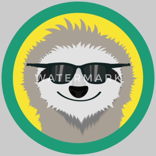 cool sloth with sunglasses by kelzo spreadshirt