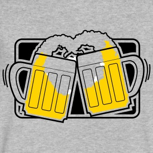 Beer Glasses - best friends - BFF - Prost - Cheers - Men's V-Neck T-Shirt by Canvas