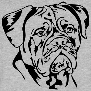 Dogue de Bordeaux - Men's V-Neck T-Shirt by Canvas