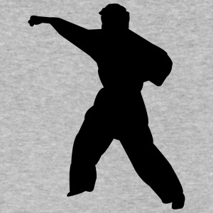 Karate fighter silhouette 6 - Men's V-Neck T-Shirt by Canvas